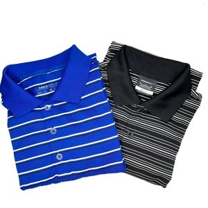 2 Men's Nike Dri-Fit Polo Shirts Medium